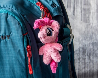 Pinkie Pie My Little Pony Plush Tiny Toy Keychain Charm Pendant