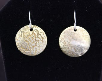 Petite Etched Brass Earrings (05212017-030)