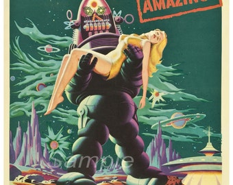 FB03 Vintage Forbidden Planet Movie Poster Print