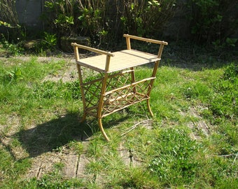 """Tablet in rattan and bamboo """"Vintage"""" years 50/60"""