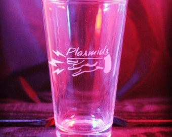 Bioshock Plasmid - Pint Glass - Gaming Glassware - Wine Glass - Beer Glass - Pilsner - Gift ideas - Gifts for Him - Gifts for Her