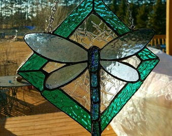 Beautiful dragonfly sun catcher