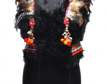 American Indian Crown Fur Vest