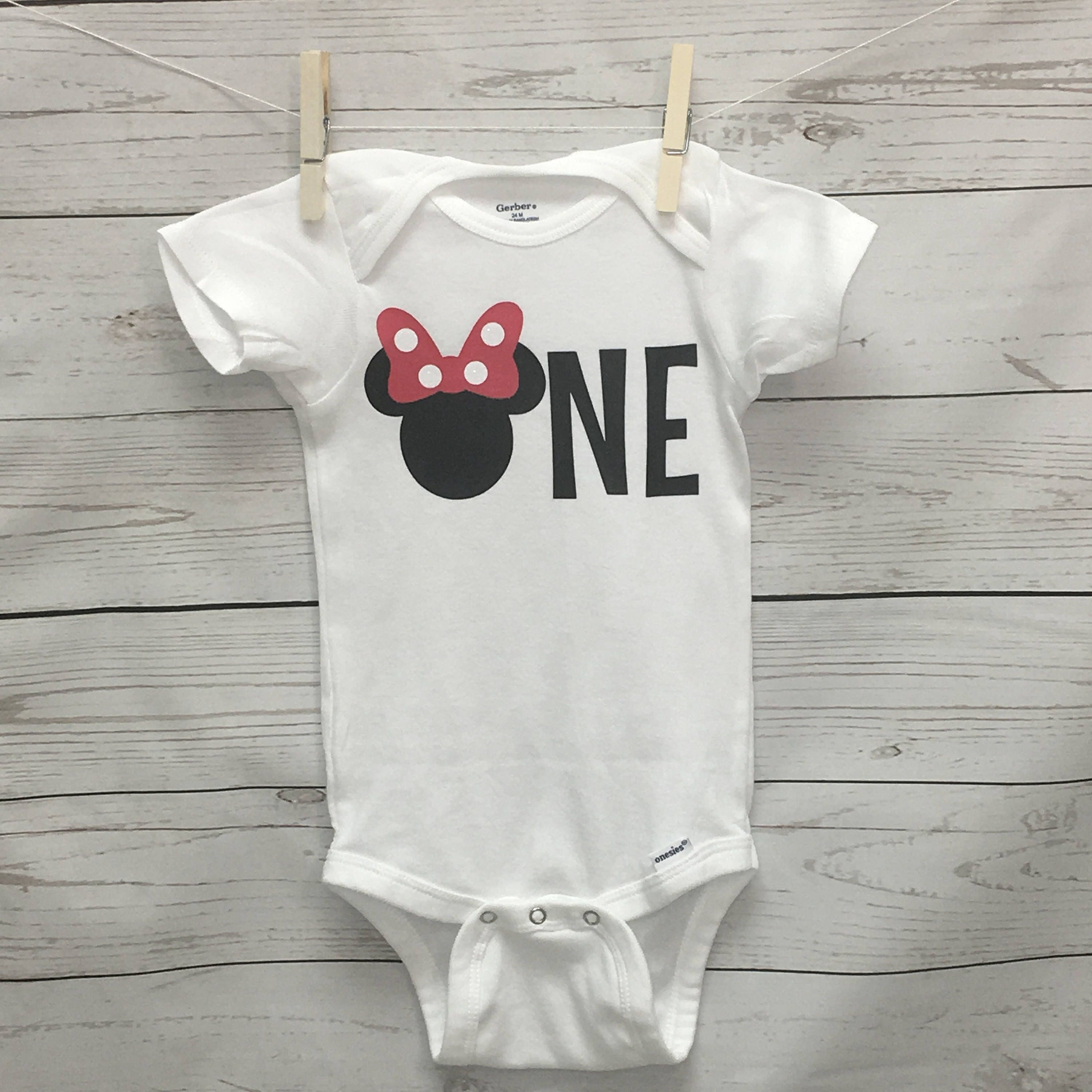 Minnie 1st Birthday Outfit Minnie Mouse Onesie Minnie Mouse
