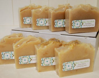 8 Pack Goat Milk Soap Box, Gift Soap, Mothers Day, handmade soap, natural, artisan