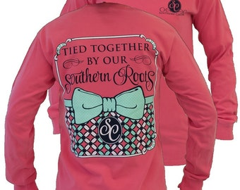 SC Comfort Southern Roots on Long Sleeve - Watermelon.....You may choose to have this personalized by getting your shirt Monogrammed.