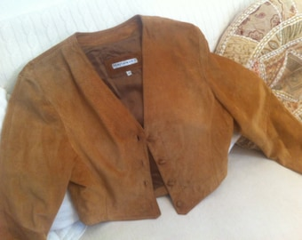 sale: 20euros to save! Gaucho 'suede leather jacket, size 42, vintage