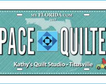 Row by Row License Plate 2017 - Space Quilter - On the Go - 2017 RowxRow