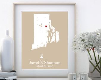 Rhode Island Map Rhode Island State Rhode Island Sign Rhode Island Wall Art Rhode Island Wall Decor Rhode Island Wedding Wedding Gift Son