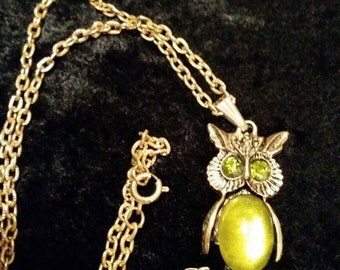 Jelly belly owl necklace