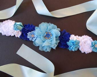 Blue Maternity Sash