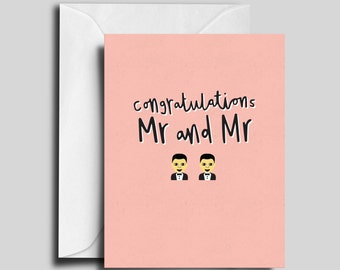 Mr and Mr / Gay Wedding Card