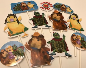 Wonder Pets Cupcake toppers. 12 birthday toppers. Wonder Pets party supplies!