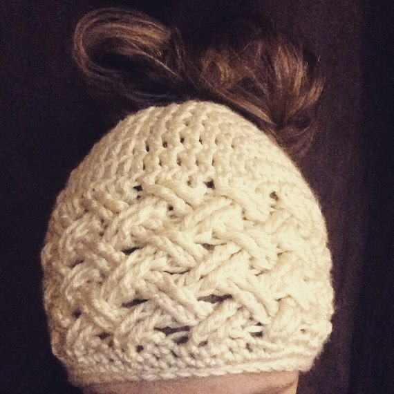Messy Bun Hat Pattern, Ponytail Hat - CROCHET - Torvi Cap Beanie and ...