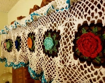 Floral Fantasy Valance/Curtain Pattern