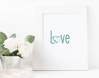 Love Sign-Nursery Art-Baby Shower Gift-Mothers Day Gift-Gift For Her-Wall Art-Baby Room Decor-Little Girl Wall Art