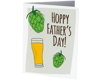 Hoppy Father's Day | Father's Day Card | BEER LOVER!