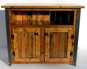 Reclaimed Wood TV Stand Buffet And Sideboards Table Industrial Sideboard