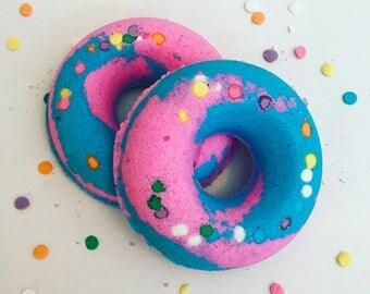 Cotton Candy Donut Bath Bomb ~ Doughnut Bath Fizzy