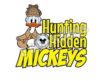 Hidden Mickey SVG dxf pdf Studio, Hunting Hidden Mickeys svg Studio, Donald Duck SVG dxf pdf Studio, Disney svg dxf pdf Studio