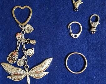 Dragonfly/Garden Inspired Keychain