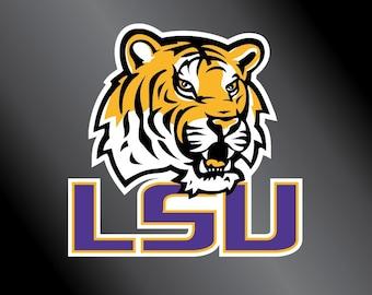LSU Tigers Vinyl Decal Sticker