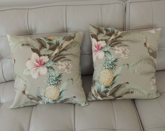 "Tommy Bahama ""BEACH BOUNTY"" Cushion Covers - 45 X 45 CM - Indoor / Outdoor Fabric."