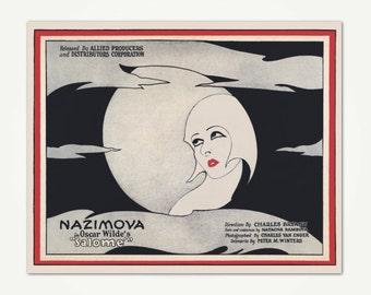 Salomé 1920's Silent Movie Poster Art Print