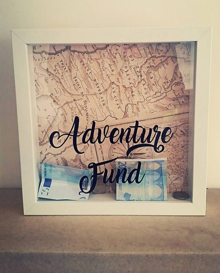 Adventure fund adventure fund box travel fund travel money for Money saving box ideas