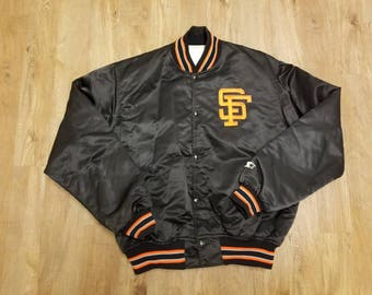 Medium Francisco Giants starter jacket,90s, satin jacket, all star game, world series, candlestick park,SFG