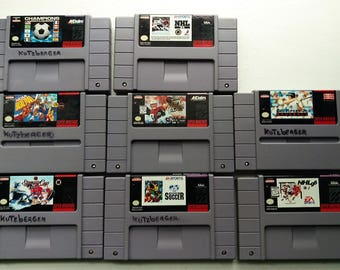 Lot of 8 Vintage Super Nintendo SNES Sports Games