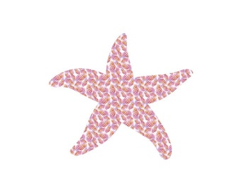 Pink Seashells Pattern Craft Vinyl. UV Laminated. Various Sizes Available.