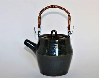 Handmade Teapot, Pottery Teapot, Japanese Teapot, Ceramic Teapot, Stoneware Teapot, Oribe Teapot