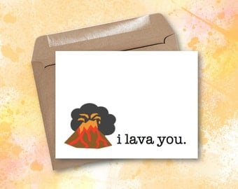 Greeting Card - I Lava You