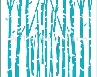 Birch Trees Stencil By 2t's