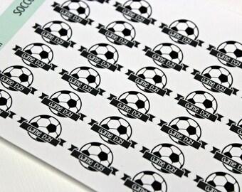 Soccer Game Day Stickers - Reminder Stickers - Planner Stickers - Functional Stickers - Sports sticker - Fits Erin Condren - Happy Planner