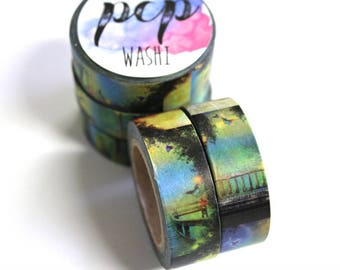 Nature Washi Tape - Washi Tape - Birds Washi Tape - Paper Tape - Planner Washi Tape - Bridge Washi - Decorative Tape - Deco Paper Tape