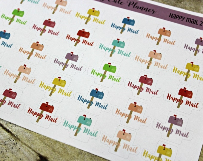 Happy Mail Planner Stickers - Reminder Stickers - Planner Stickers - Mail Planner stickers - Etsy Happy Mail - Happy Planner - ECLP Stickers