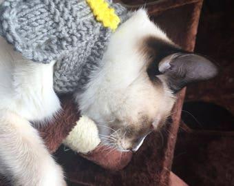 Belt style cat scarf
