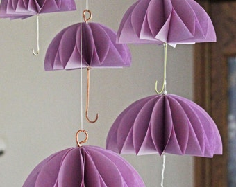 Set of 10 Umbrella Party Decorations Mini Umbrellas 3 Different Sizes 10 Different Colors Individually Handmade