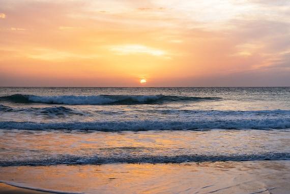SUNSET EL PALMAR. Seascape print, Sunset print, Spanish Picture, Photographic print, C Type Print