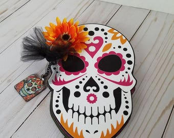 Handmade Sugar Skull scrapbook mini album