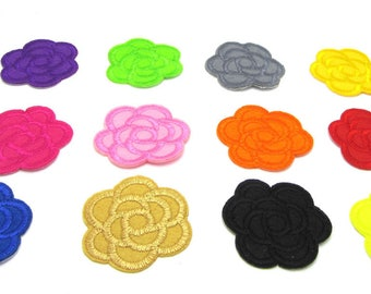 Flower Applique, Embroidered Flowers , Self Adhesive Flowers, , Flower  Embellishment, Flower Patch, Flower Badges,
