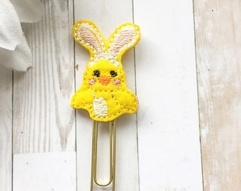 Cute Bunny Chick Felt Planner Clip - Easter - Chicken Rabbit - Spring - Planner Accessories - Paper Clip - Bunny Ears - Small Gift