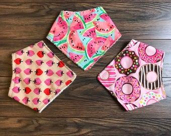 Pick 1 or more, Bandana Bibs, girl bandana bibs, baby bandana bibs, teething bibs, baby bibs (Made to Order)