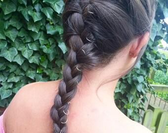 Hair Rings x 6