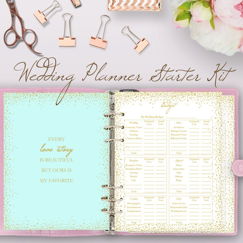Wedding Planning Book Printable Wedding Planner Printables