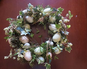Easter Egg and Ivy Wreath