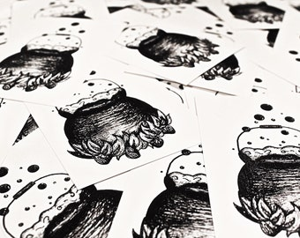 A6 Cauldron Print