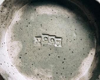 Stoneware Meow cat bowl